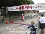 Flying over the Houston Classical 25K finish line