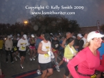 The race starting line in the pre-dawn