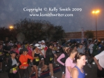 Runners at the starting line of the Houston 30K.
