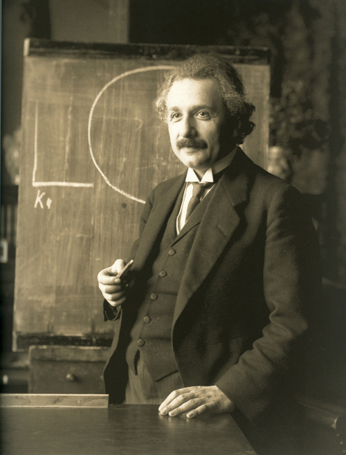 Einstein in 1921; photo courtesy F_Schmutzer