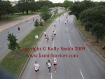 A bird's eye view of Houston runners