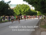 The pack thinning out at the Houston Half Marathon