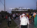 Runners waiting at the starting line at the 2010 Seabrook Lucky Trails Marathon