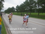 Flying along the course of the USA Space City 10 Miler 2009