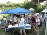 BARC tent at the Houston HARRAH Cross Country Relay, 2009