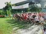 Starting Line at the Houston HARRAH Cross Country Relay, 2009